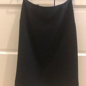 Eli Tahari black midi skirt